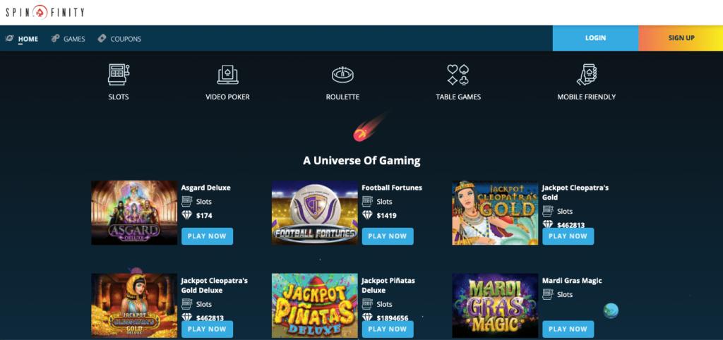 Spinfinity Casino slots